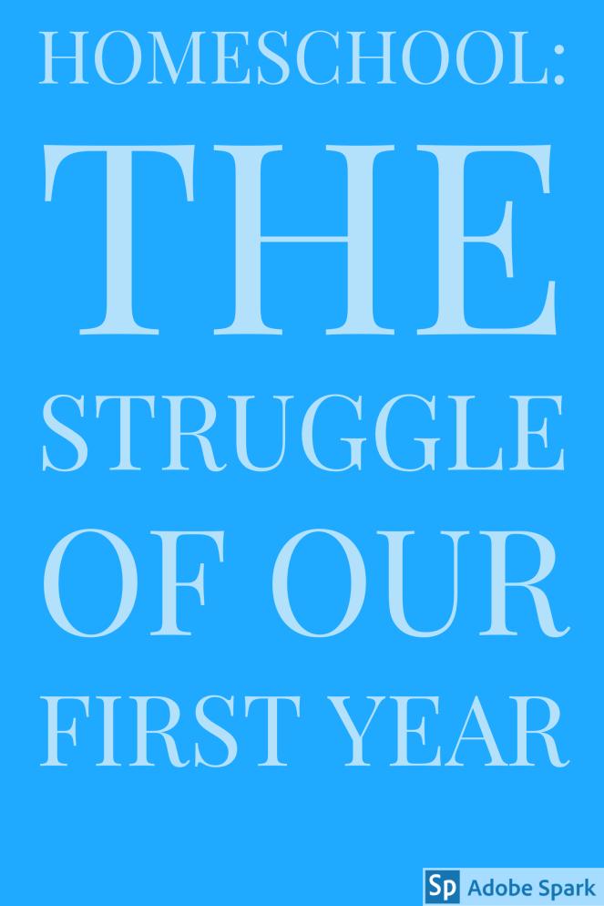 Homeschool_the struggle pin image