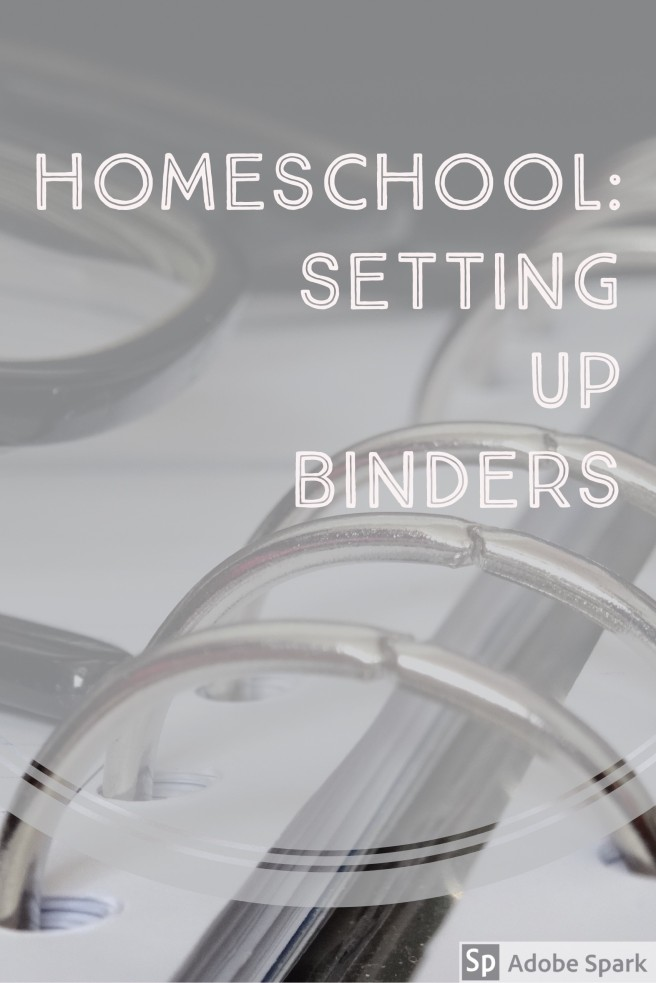 Homeschool_Setting Up Binders Pin Image