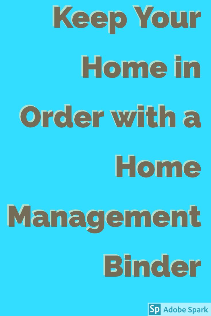 Home Management Binder Pin Image