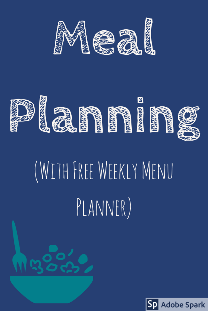 Meal Planning pin Image