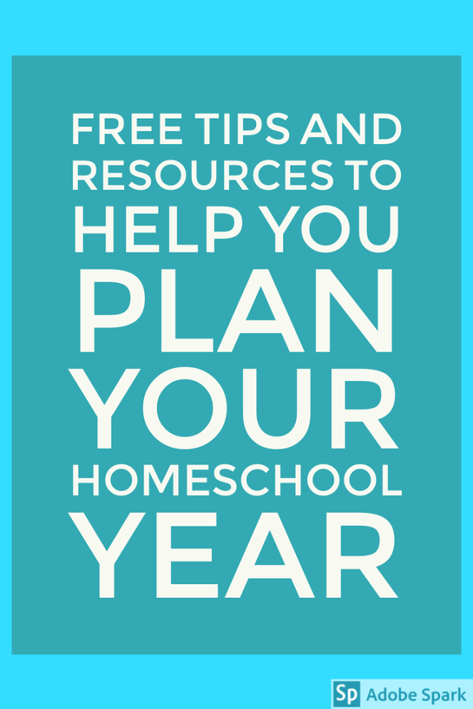 Homeschool tips and resources pin Image