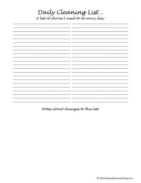 Daily Cleaning List-page-001