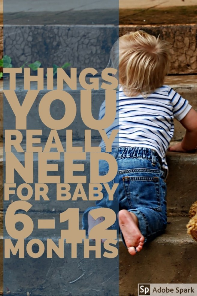 Things for baby 6-12 months pin image