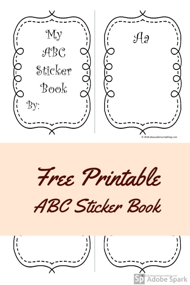 ABC Sticker Book Pin Image
