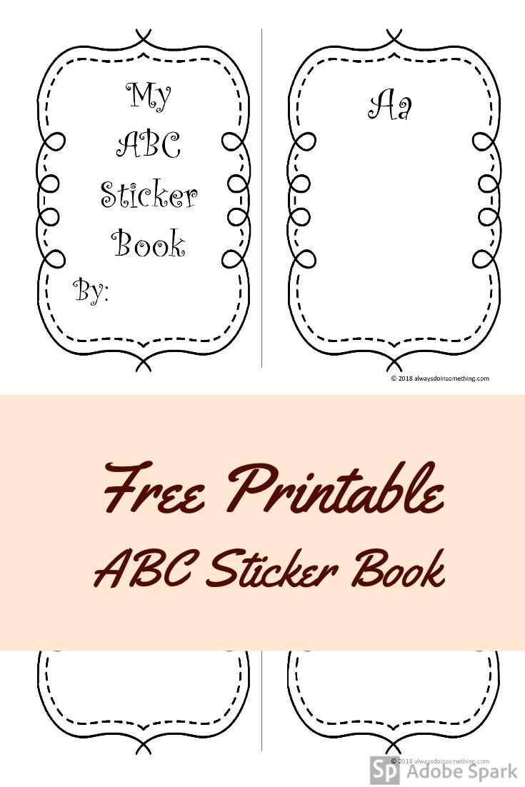 ABC Sticker Book Pin Image