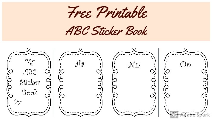 photo regarding Printable Abc Book referred to as ABC Sticker Guide No cost Printable