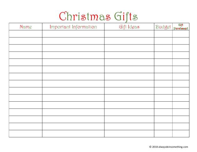 Christmas Gifts List-page-001