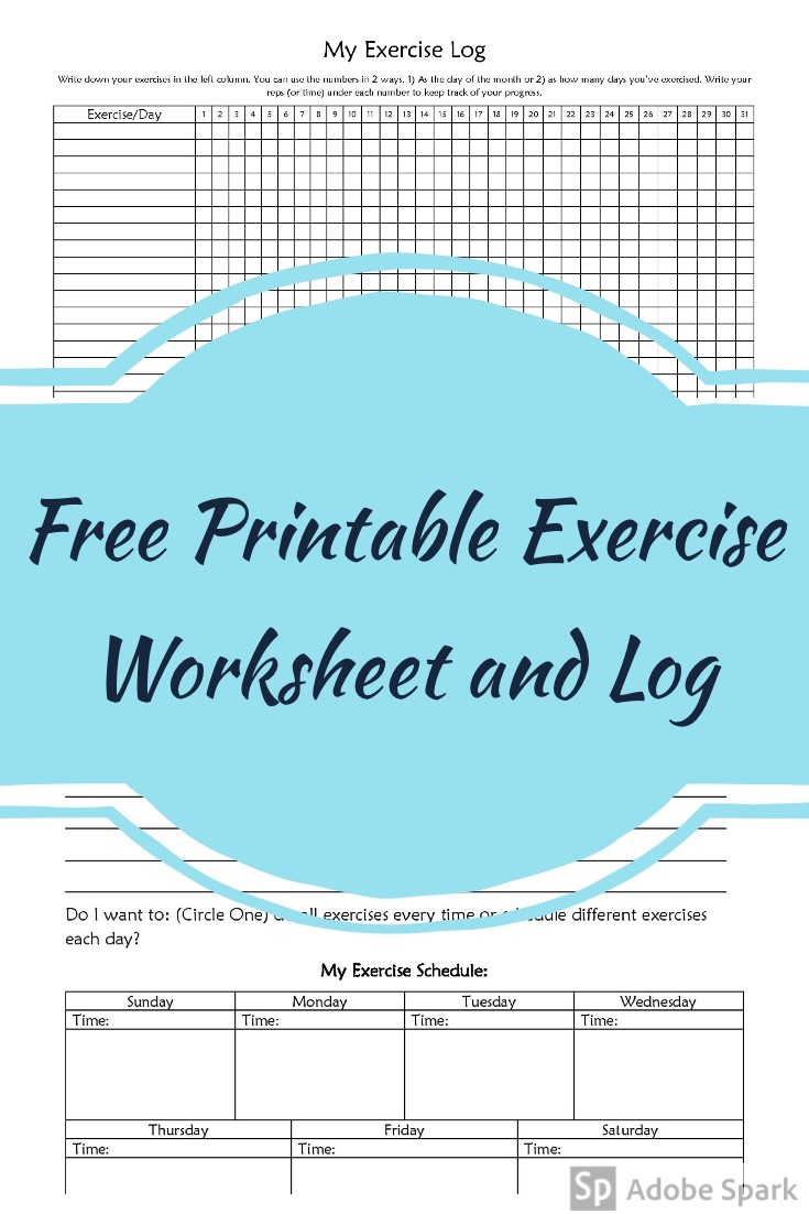 free printable exercise worksheet and log always doin something