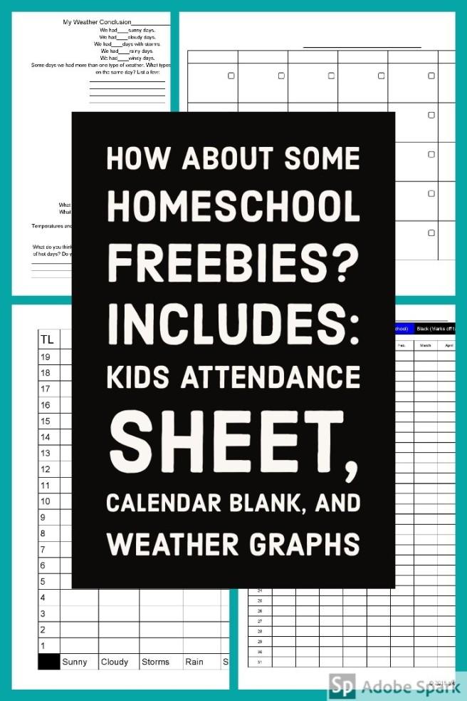Homeschool Freebies Pin Image