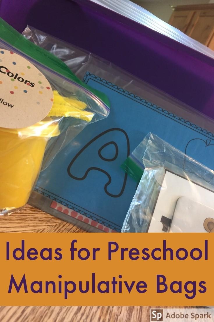 Preschool Manipulatives Bags Pin Image