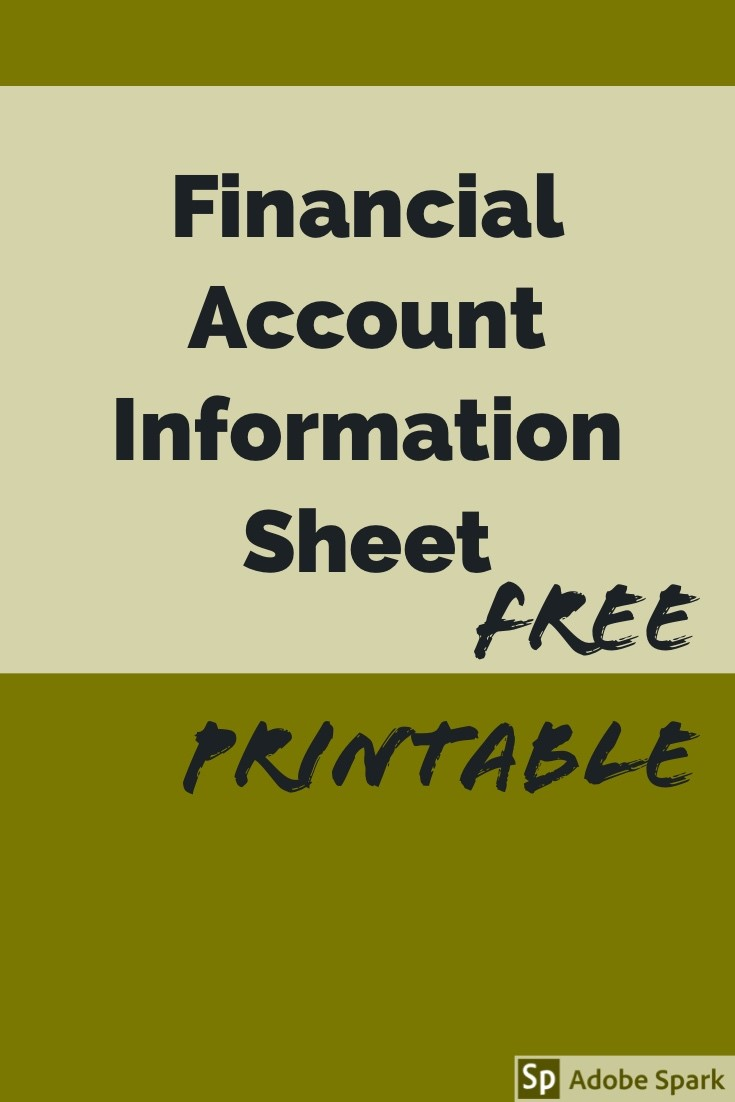 Financial Account Information Pin Image