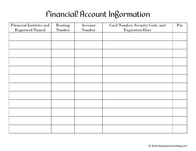 Financial Account Information Sheet-page-001