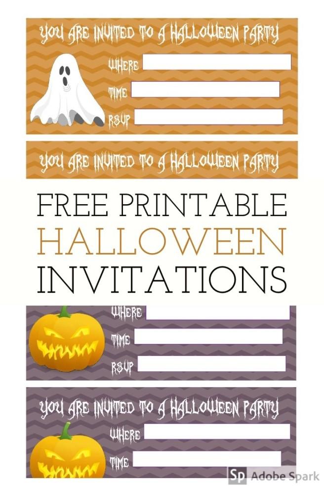 Halloween Invitations Pin Image