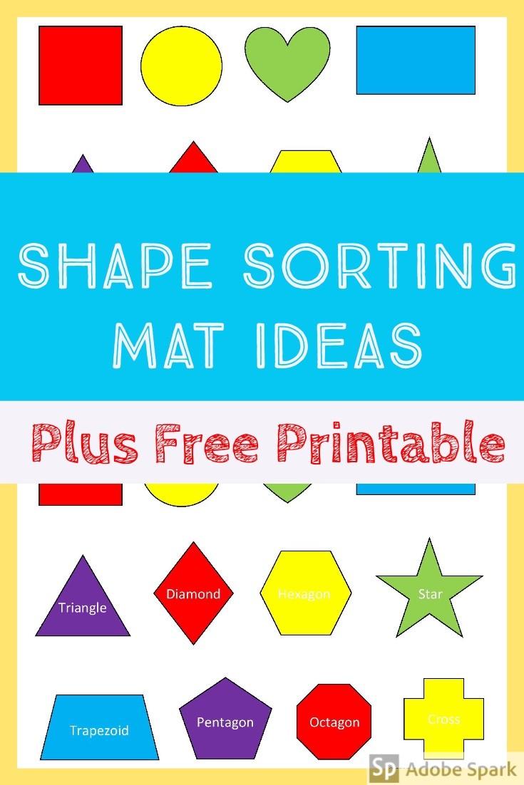Shape Sort Mat – Free Printable – Always Doin Something