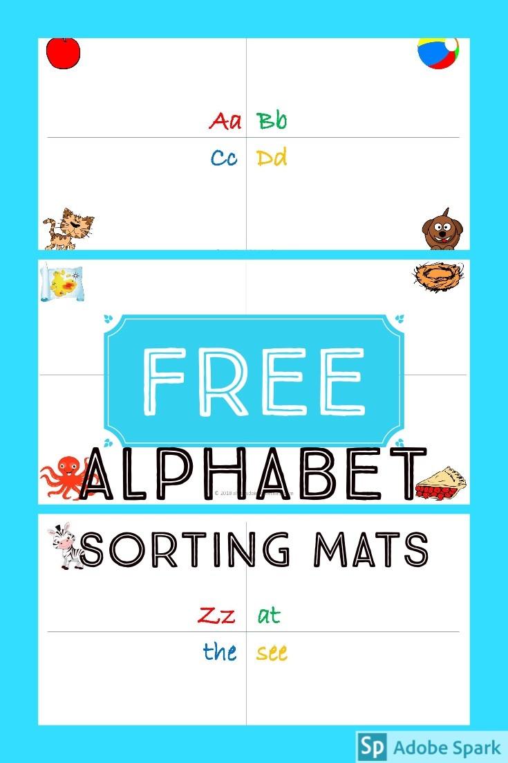 Alphabet Sorting Mats Pin Image