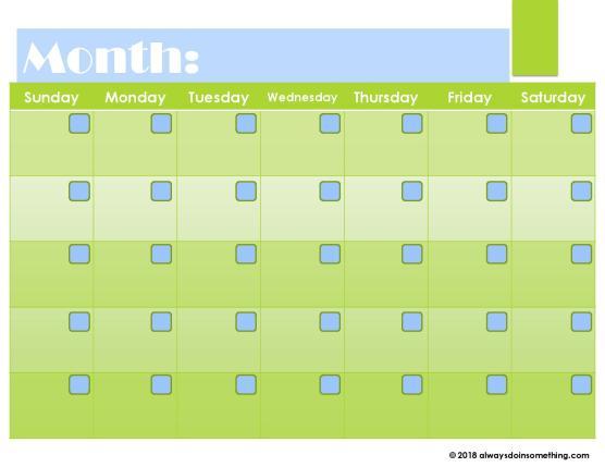 Getting YOU In Order Free Blank Calendar Printables Always Doin