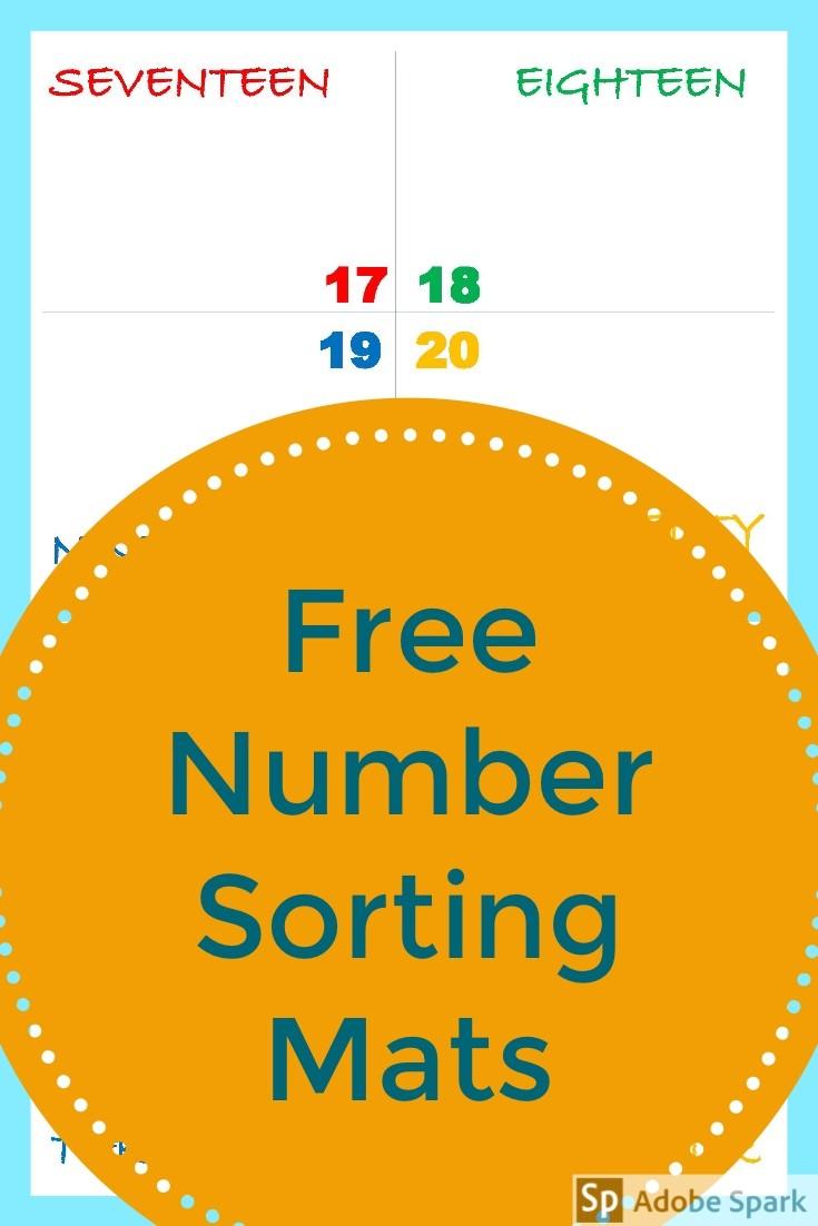 Number Sorting Mat Pin Image