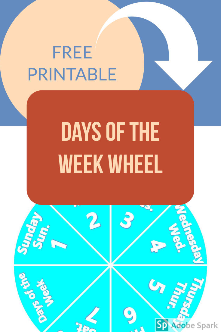 Days of the week Actual Pin Image
