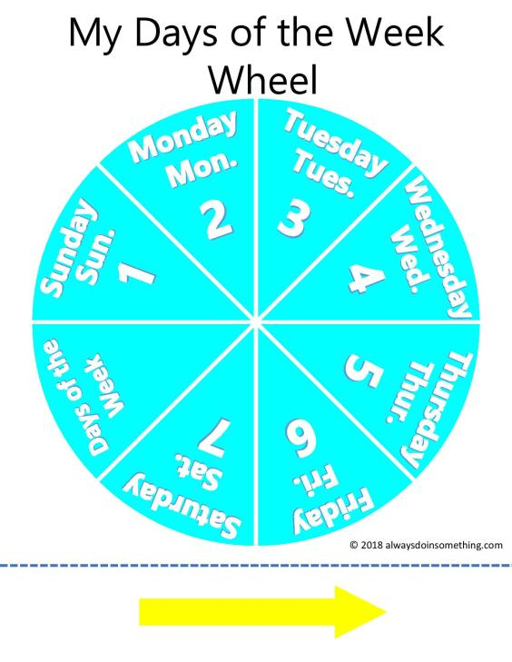 Days of the week wheel 2-page-001