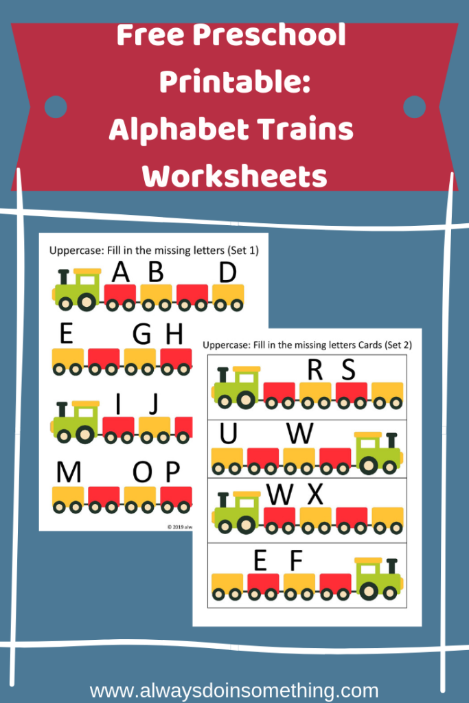 Free Preschool Printable: Alphabet Trains Worksheets Pin Image