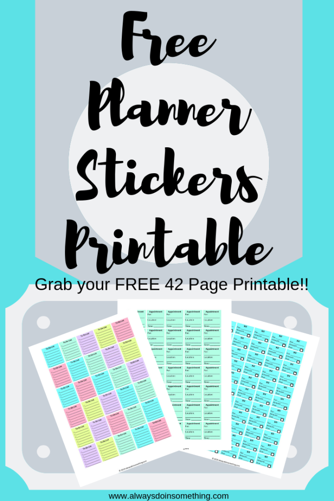 Free Planner Stickers Printable Pin Image