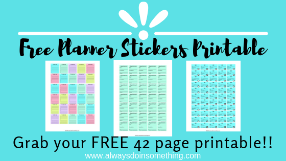 photo relating to Free Planner Sticker Printables called Cost-free Planner Stickers Printable