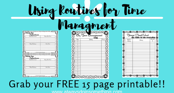 Using Routines for Time Management Post Image