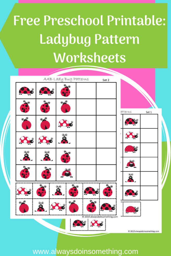 Lady Bug Pattern Worksheets Pin Image