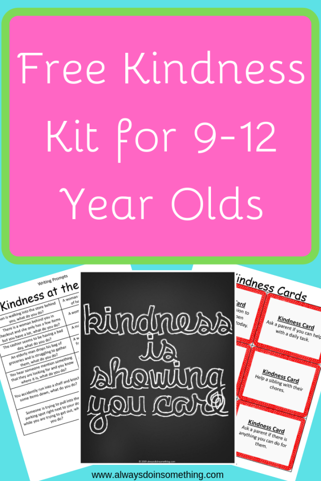 Kindness Kit for 9-12 Year Olds Pin Image