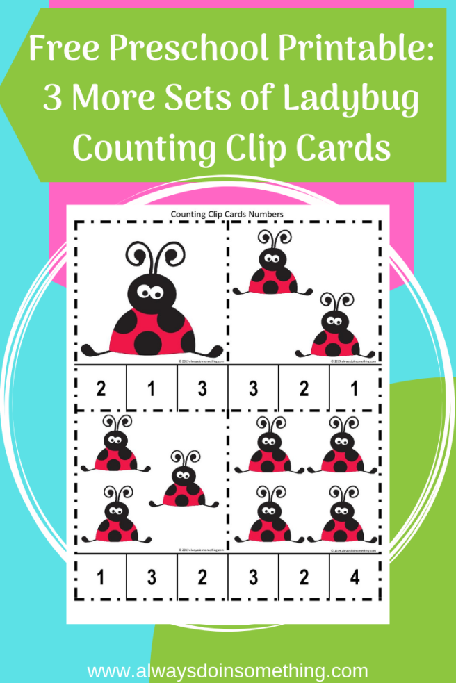 3 More Sets of Ladybug Counting Cards Pin Image