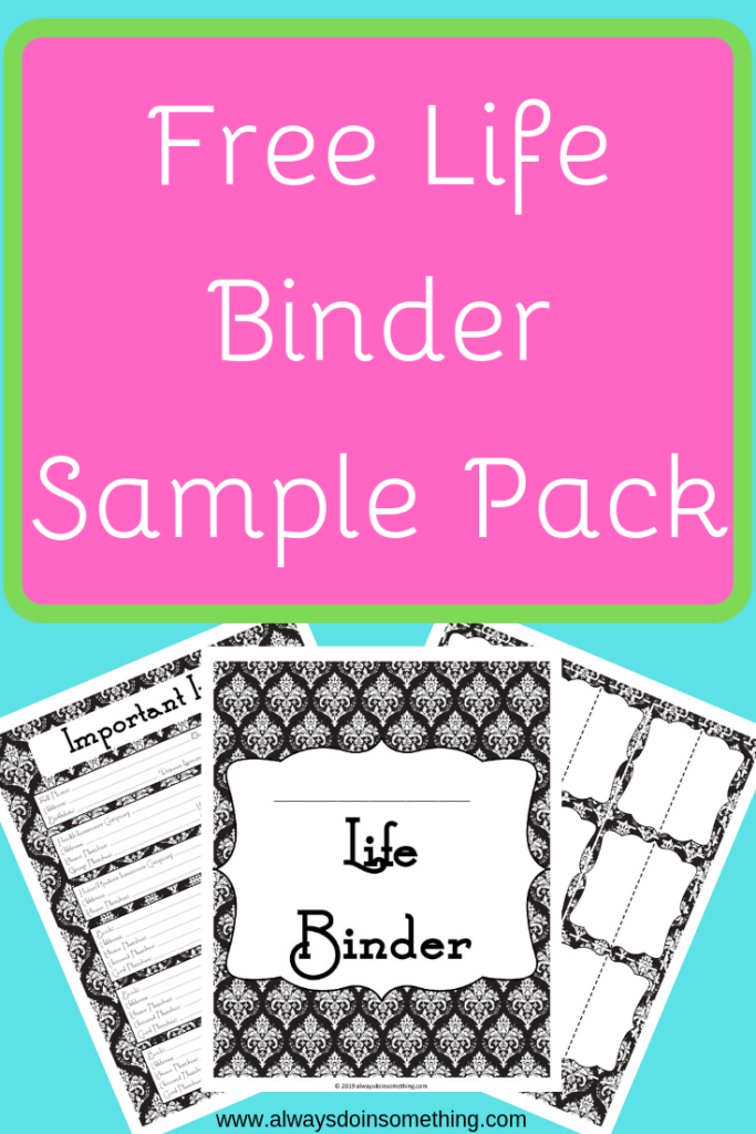 Life Binder Pin Image